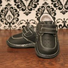 Wee Squeak Black Boys Loafer Dressy Squeaky Shoes RUNS BIG, Sizes 3, 4, 5, 6, 7