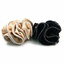 Swarovski Crystal Scrunchie Rhinestone Ponytail Holder Hair Jewelry Tie Band New