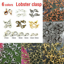 50/100Pcs Plated Metal Lobster Claw Clasps Hooks Connector Finding 10/12/14/16mm