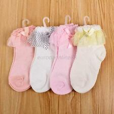 Princess Baby Girls Warm Cotton Socks Lace Trim Cute Ankle Socks 4 Colors NEW
