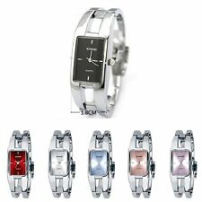 Women's Square Dial Stainless Steel Bangle Bracelet Analog Quartz Wrist Watch