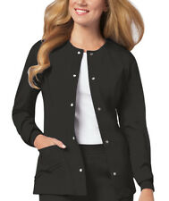 Scrubs Cherokee Luxe Warm-Up Jacket 1330 Black  FREE SHIPPING
