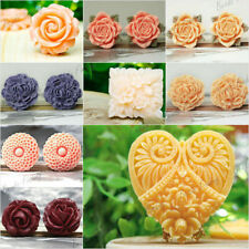 Resin Cabochons Flower Leaf Heart Round Square Cameo Style fit Cabochon Settings