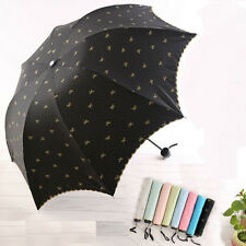 Lady Princess Lace Flowers Dome Parasol Sun/Rain Folding Umbrella Taschenschirm