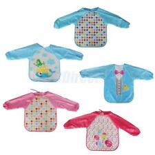 Cute Cartoon Children Baby Toddler Waterproof Long Sleeve Self Feeding Bib Apron