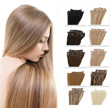 8 pcs Clips-In Full Head Remy Real Human Straight Hair Extension 20/22/24 Inch