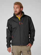 Helly Hansen Crew Midlayer Fleece Lined Waterproof Jacket 30253/990 Black NEW