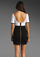 NWT Juicy Couture Structured Black White Color Block Dress Size M L@@K!!!!!!