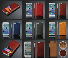 Luxury PU Leather Wallet 2 Credit Card Slots Back Case Cover For Apple iPhone