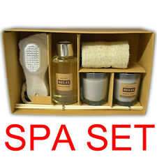 SPA SET CANDLE OIL DIFFUSER GIFT SET FRAGRANCE REED STICKS AROMATHERAPY SCRUBBER