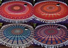 Mandala Gypsy Tapestry Round Roundie Indian Yoga Mat Decor Beach Throw Hippie