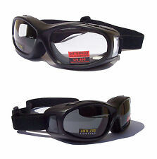 NEW- FLIGHT Over The Glasses [OTG] Motorcycle Biker Goggles |Transitional Lenses