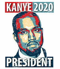 Kanye West Yeezus For President 2020 Yeezy T-Shirt Tee Funny Vote Tour Dope Yolo