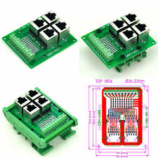 RJ50 10P10C 4-Way Buss Breakout Board Interface Module, Terminal Block Connector
