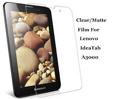 Clear/Matte Screen Protector Film Guard Skin Lot For Lenovo IdeaTab A3000 Tablet