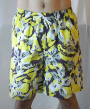 Men Board Shorts Boardshort Casual Beach Surf Swimming Swim Trunks Floral Yellow