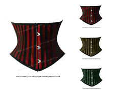 Double Steel Boned Waist Training Brocade Stripe Underbust Corset#HC8419-DB(STR)