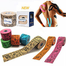 SPOL 1 Roll 5CMx5M Tattoo Kinesiology Sports Therapeutic Tape Muscle care/5color