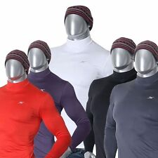 Mens Thermal Base Layer Shirts Mock Neck Tops Compression Napping Fabric NMM