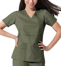 Scrub Dickies Gen Flex Youtility Mock Wrap Top 817355 Olive FREE SHIPPING