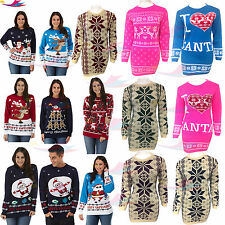 Xmas Ladies Novelty Christmas Sweater Retro Vintage Unisex Womens lot Jumper