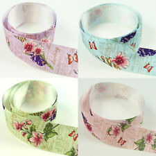 2M VINTAGE FLORAL 26mm SATIN RIBBON *5 COLOURS* CRAFTS CARDMAKING WEDDING INVITE