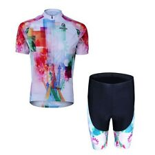 Cool ! Summer Bicycle Wear Outdoor Sports Cycling Jersey+Shorts Pant Set S-3XL