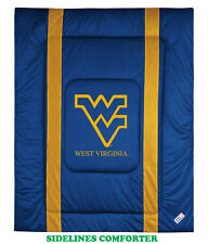 WEST VIRGINIA MOUNTAINEERS SIDELINES COMFORTER, PILLOW SHAM & PILLOW CASE