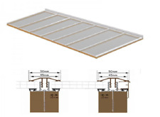 Complete Timber Supported Polycarbonate Roof Kit 2.5 Metre Long 4 Metre Wide.