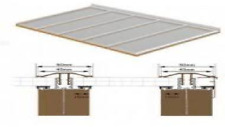 Complete Timber Supported Polycarbonate Roof Kit 3 Metre Long 5 Metre Wide.