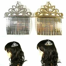 Bridal Jewelry Hair Comb Clip Pin Rhinestone Crystal Pearl Tiara Party Wedding