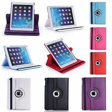 APPLE IPAD AIR 2 IN VARIOUS COLOUR PU LEATHER 360 DEGREE ROTATING CASE COVER