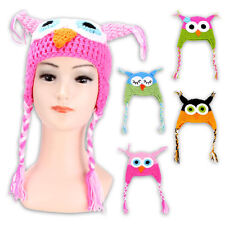 Baby Small Child Children HAT Knit Crochet hat Beanie Handmade OWL in 4 Colors