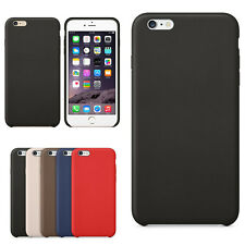 Luxury  Genuine Leather Case Cover +Tempered Glass Film For iPhone 5S/5/6/6 Plus