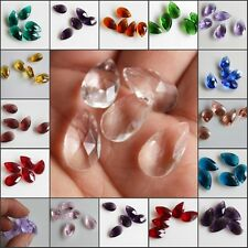 10PCS 16 Colors Faceted waterdrop Glass Crystal Loose Spacer Beads Size 10x16mm