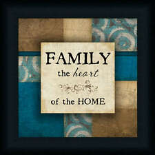 Family The Heart of The Home Inspirational Sign Framed Art Print Wall Décor