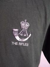 BRITISH ARMY SOLDIER LI RIFLES LIGHT INFANTRY Embroidered green T-SHIRT