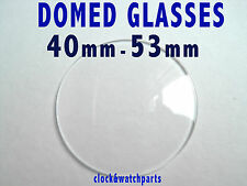WATCH DOME GLASS CRYSTAL FACE LENS Large watch pocket watch, SMALL BEVEL 40-53mm