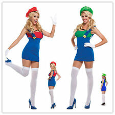 NEW WOMANS LADIES SEXY SUPER MARIO BROTHERS HEN DOO FANCY DRESS PARTY OUTFIT