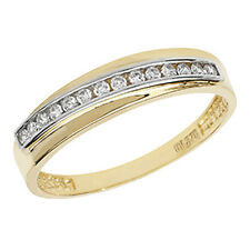 9ct Yellow Gold Clear Cubic Zirconia Fancy Eternity Design Ring RN865