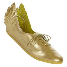adidas Originals Jeremy Scott Gold Wings Easy Five D65208 Women's Flats new
