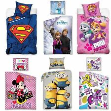 100% COTTON DISNEY AND CHARACTER SINGLE DOONA COVER SETS KIDS BEDROOM BEDDING