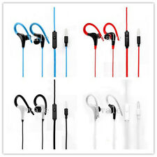 Over In EarClip Mic Running Jogging Sport Stereo Headset Earphone For iPhone HTC