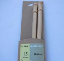 "Brittany Single Point Knitting Needles 10"" L Wood Needle Various Sizes Available"