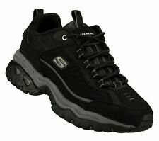 50172 Black Skechers Shoes Big & Tall Men New Sport Soft Casual Leather Sneaker