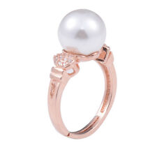 Fashion Pearl Rhinestones Silver /Gold Plated Adjustable Ring Jewelry Gift