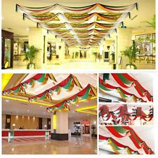 3m Ceiling Hanging Decoration Wave Flag Christmas Party Hanging Ornament E83L