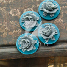 Resin Mini Flowers Flatback Resin Flower Cabochon Embellishment 18x18mm Crafts