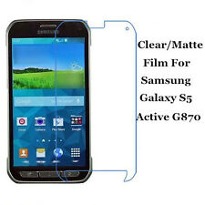 Clear/Matte Screen Protector Film Guard Lot For Samsung Galaxy S5 Active G870