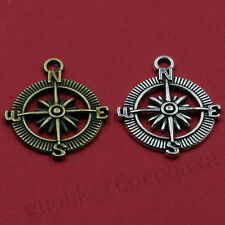 5/50pcs Exquisite Alloy Fashion Compass Charm Pendant Jewelry Making DIY 25X25MM